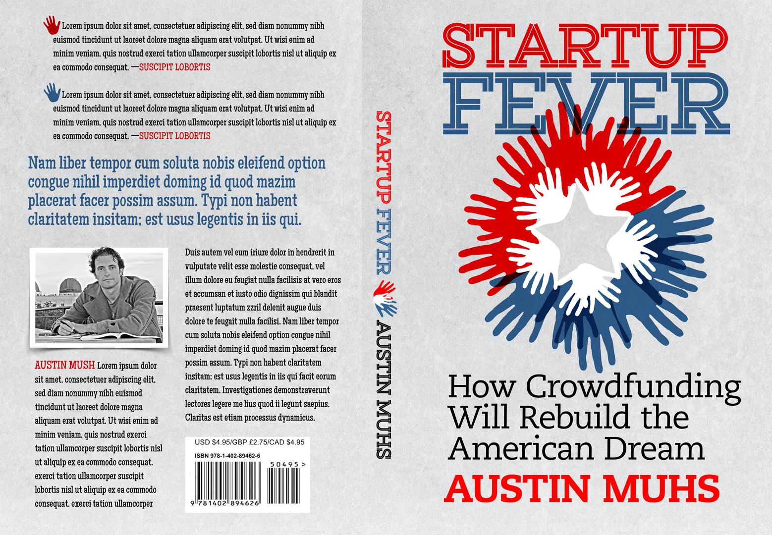 "Create Eye-catching Cover for ""Start Up Fever, How Crowdfunding Will rebuild the American Dream"""