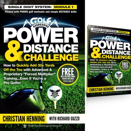 Kindle and CreateSpace book covers needed for Golf: Power & Distance Challenge