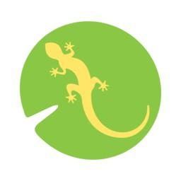 Newt database, a newt on a lily pad