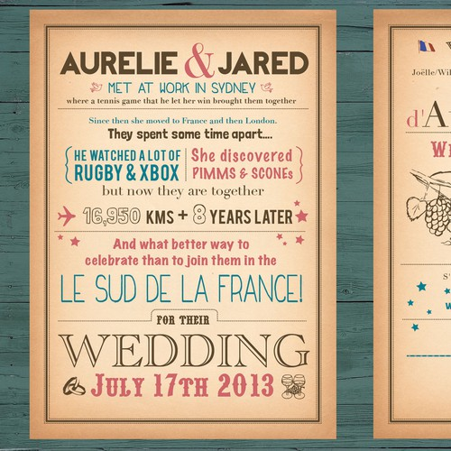 Create the next card or invitation for Jared