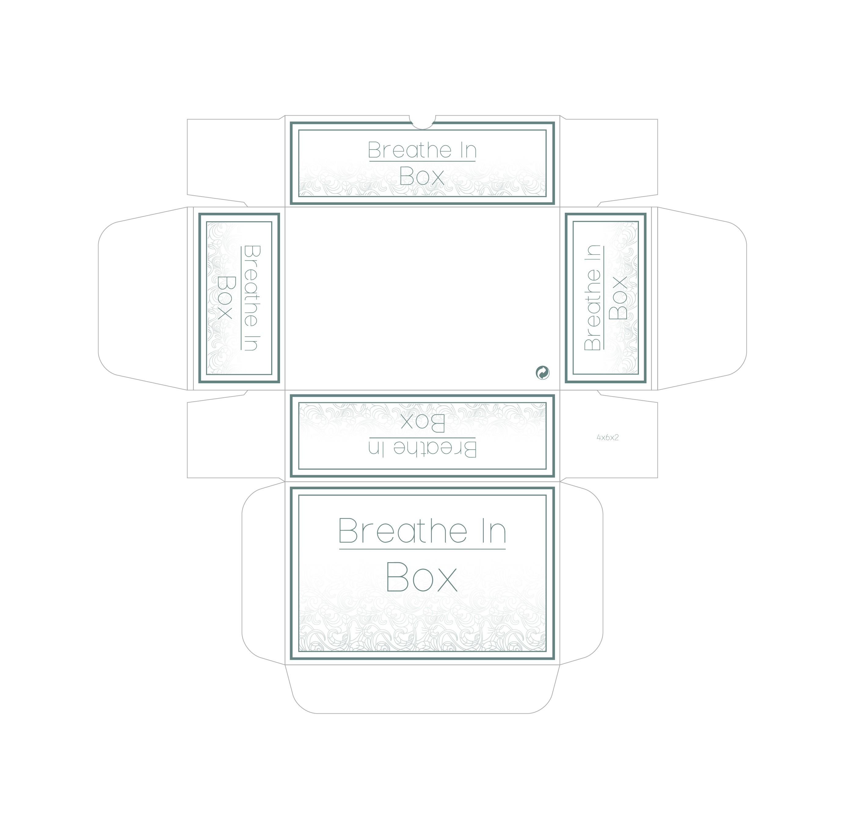 Create a box design for an essential oil subscription