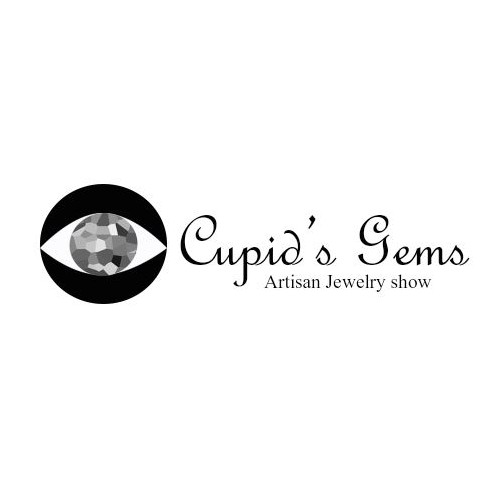 Create an elegant logo for the Cupid's Gems Jewelry Show