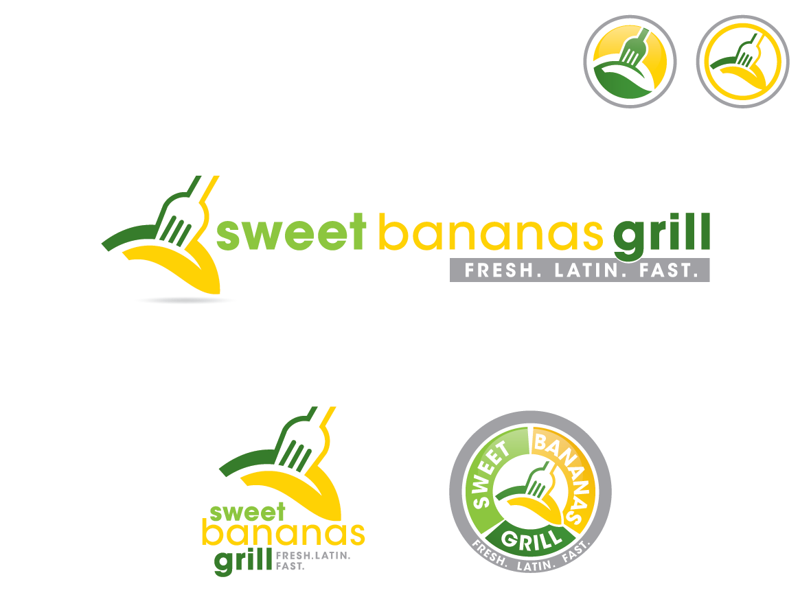 Help me, create the next national logo for Sweet Bananas Grill