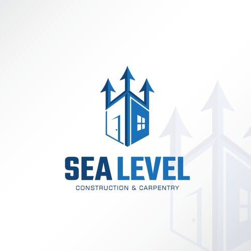 The sea without wave for SEA LEVEL Constructions