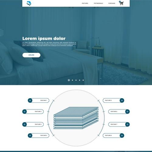 Web page for a mattress company