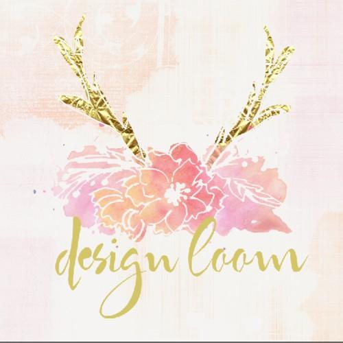 Create a elegant modern logo for a earthy hippie event design company, designLOOM.