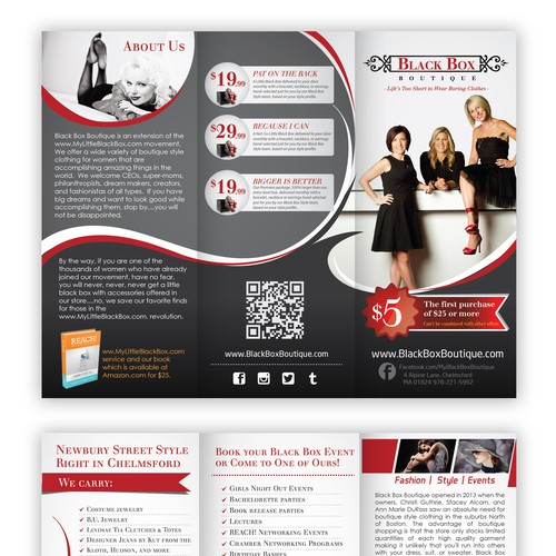 Make us an awesome brochure for Black Box Boutique