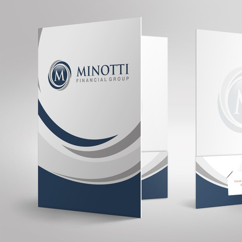 Simple and elegant presentation folder design for Minotti Financial Group