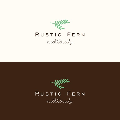 A soap logo for Rustic Fern Naturals