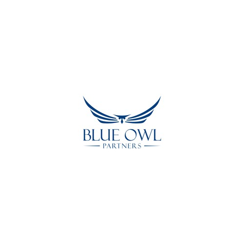 Design a professional/financial logo for Blue Owl Partners