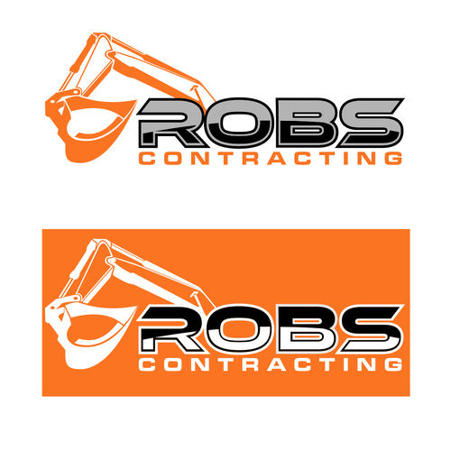 logo for a masculine excavation company