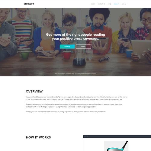 Vertical Scroll Style B2B Website