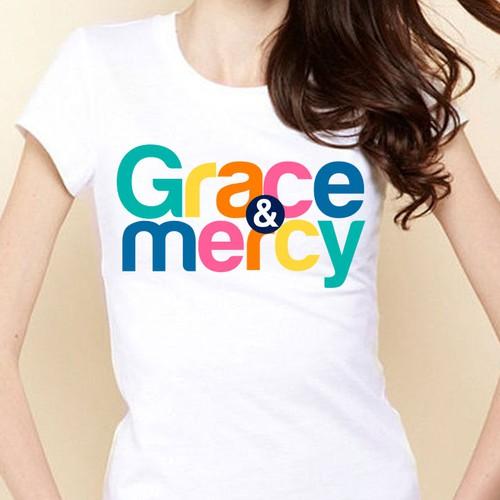 grace & mercy t-shirt design