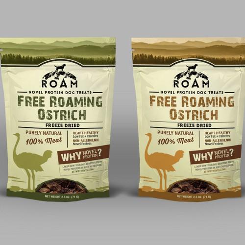 Package for ROAM pet treats