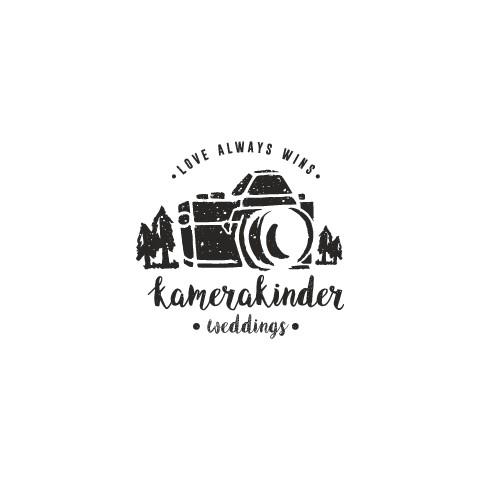 Create an adventurous logo for traveling wedding filmmakers