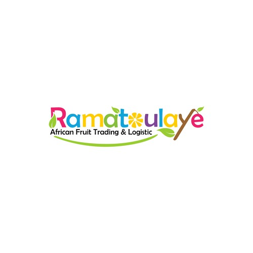 Ramatoulaye African Fruit and Logistic Logo Design