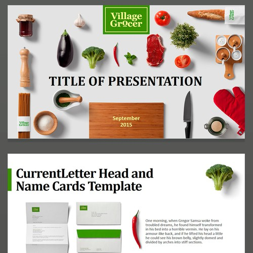 Presentation for food company