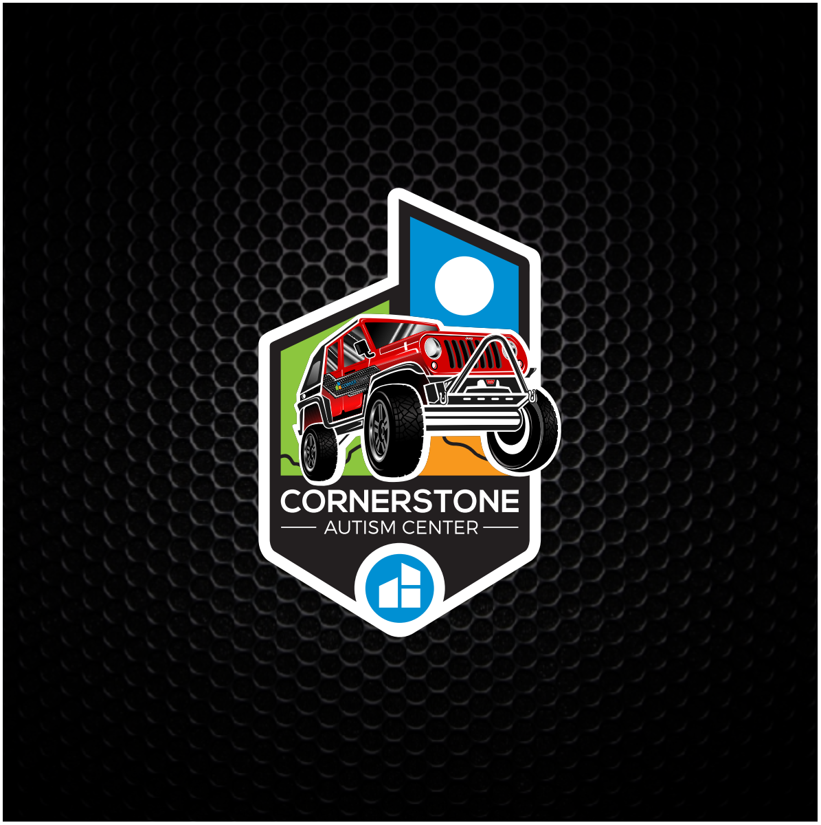 Cornerstone Jeep over logo emblem