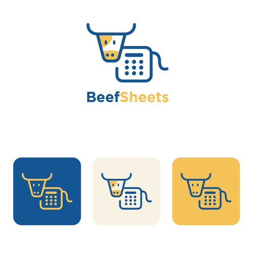 Playful Logo for a Beef Cattle App