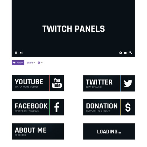 Buttons for Twitch channel