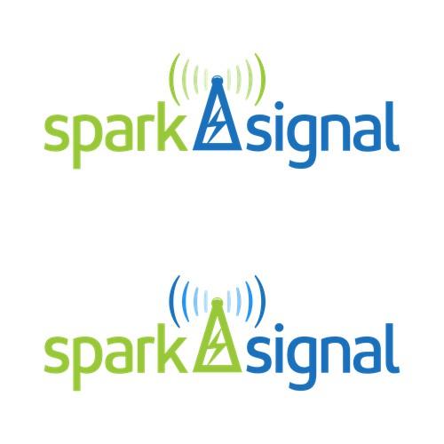 spark signal logo concept