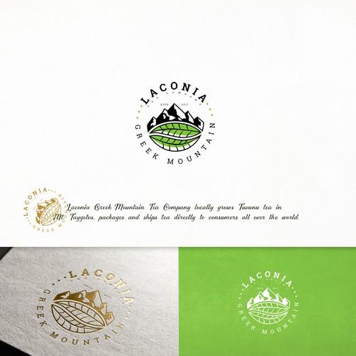 Logo and branding for Laconia
