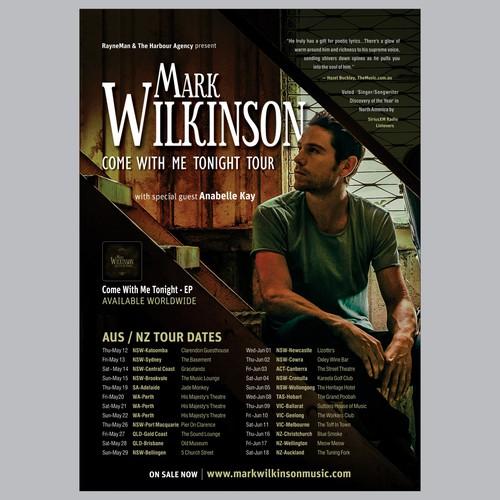 Poster design Mark Wilkinson tour