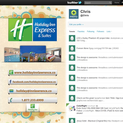 Holiday Inn Express & Suites needs a new twitter background