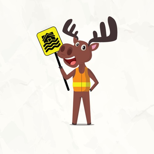 Attention! Safety moose!