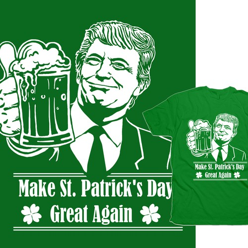 Donald Trump St Paddys illustration T-Shirt