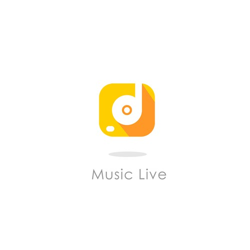 Logo concept for Music Live mobile apps