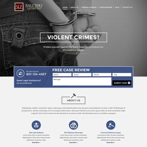 Salt Lake City Criminal Defense Website Design