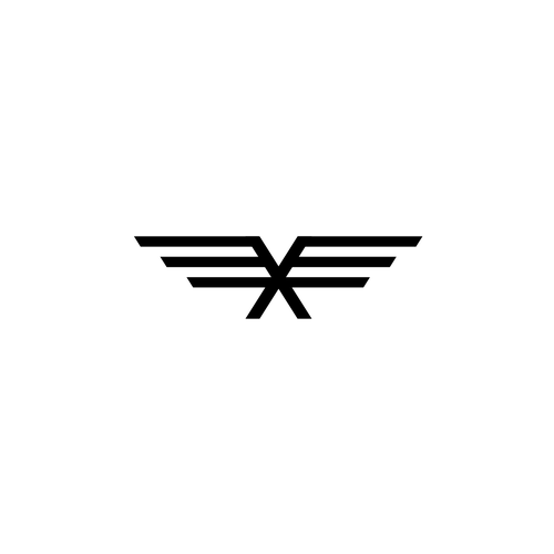 Flying X logo design