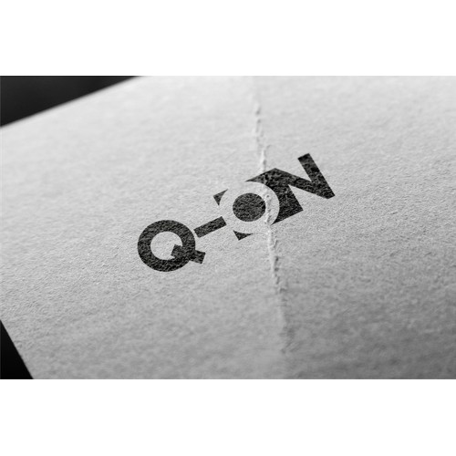 Create an image with the word Q-On which is sophisticated and dynamic