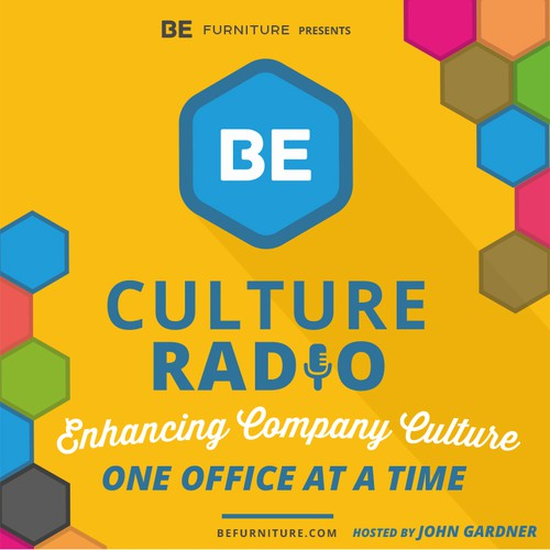 Create Award Winning Podcast Cover for BE Culture Radio
