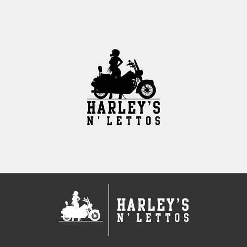 Model who rides a Harley needs a logo!