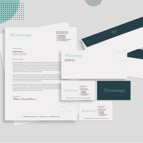 Intriguing stationery for a growing healthcare company