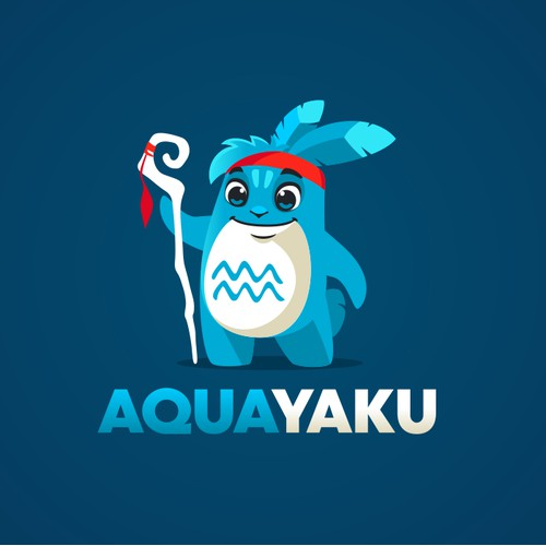 Logo and mascot for the water park AQUAYAKU.