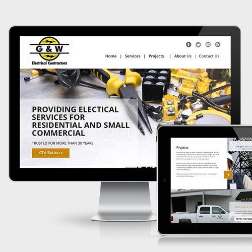 G&W Electrical - Website design