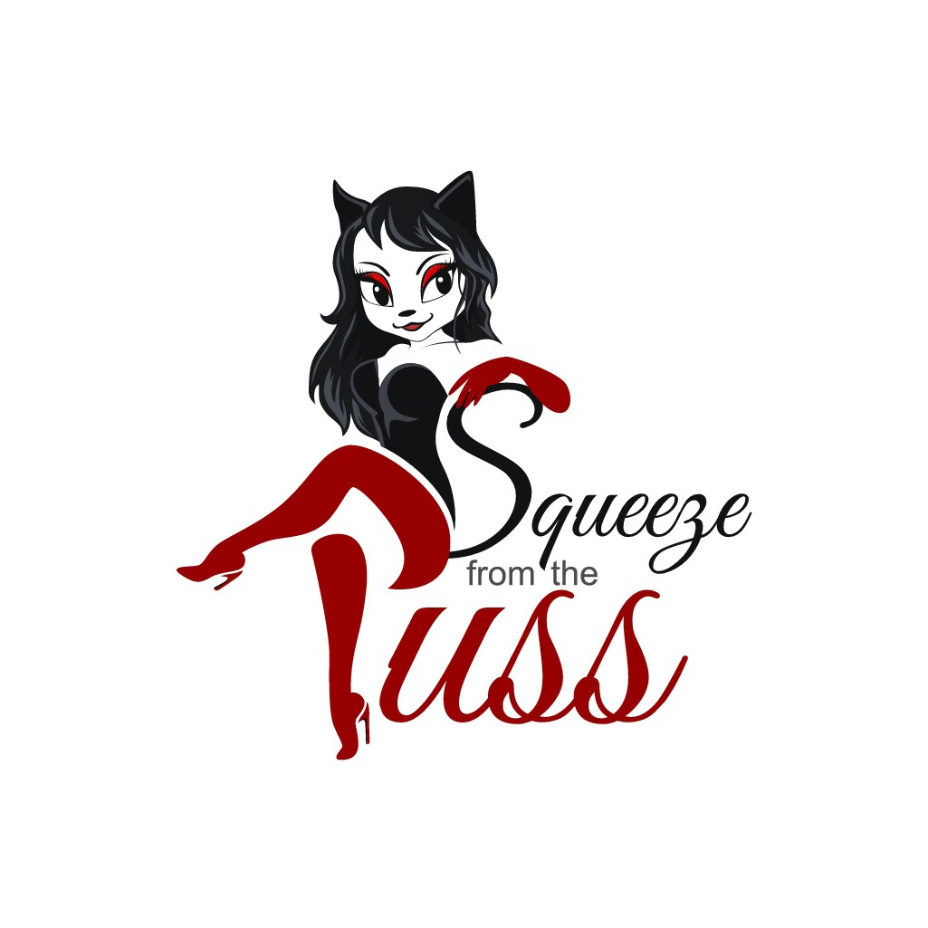 Design a super cute and funny play on the phrase ' Squeeze from the puss'
