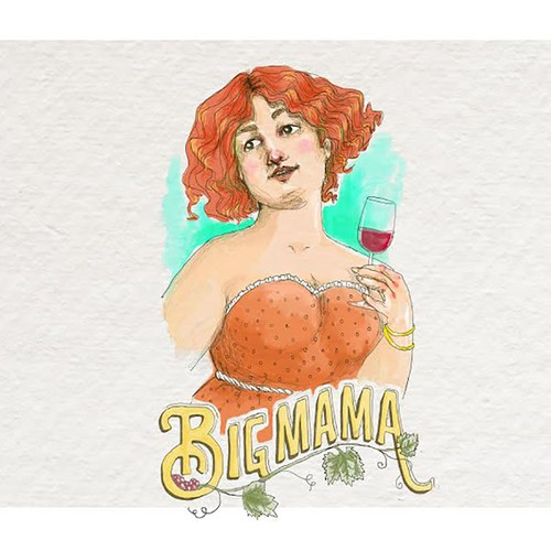 Wine label Big Mama