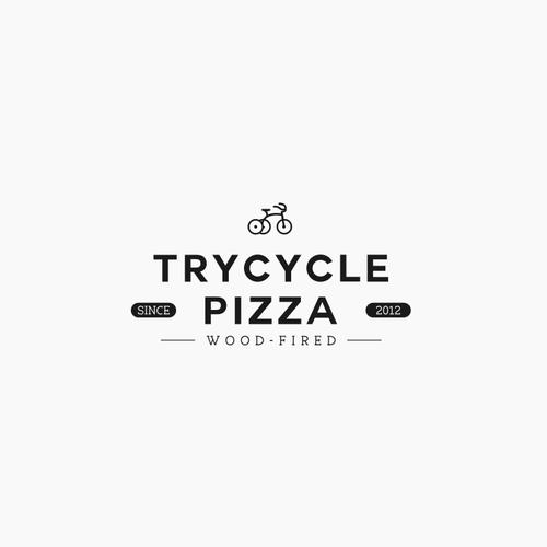Vintage logo concept for pizza