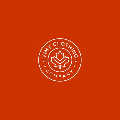 """v maple"" badge concept of logo"