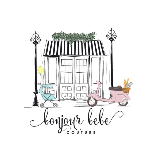Children boutique elegant logo