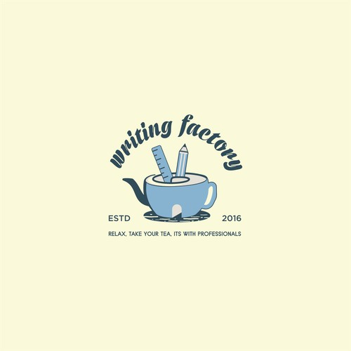 logo designs for writing factory