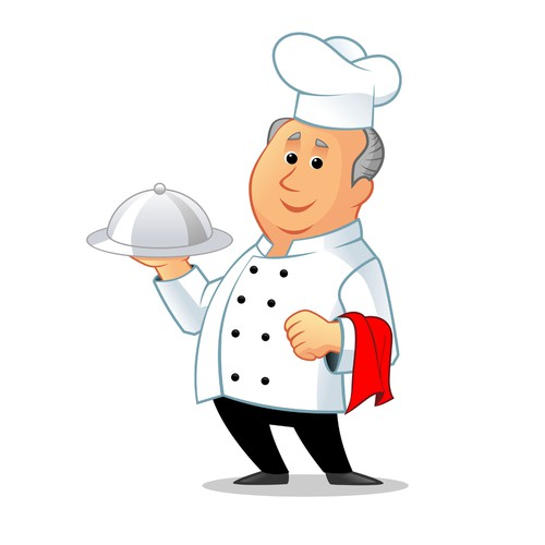 Create an illustration of Chef Larry for DEQOnline.com