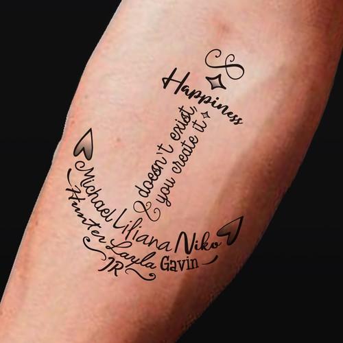 Family names tattoo