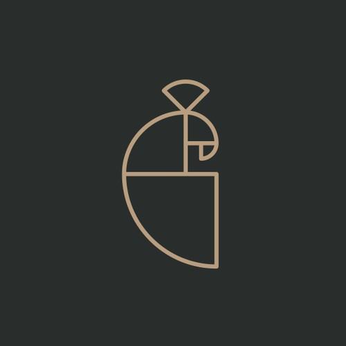 Peacock logo concept - Golden Ratio