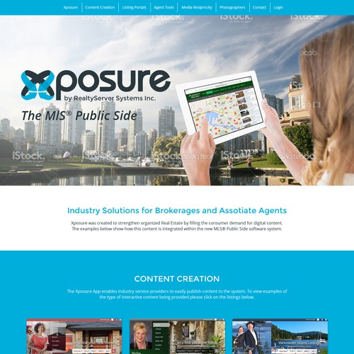 Web design for a realty mutimedia app
