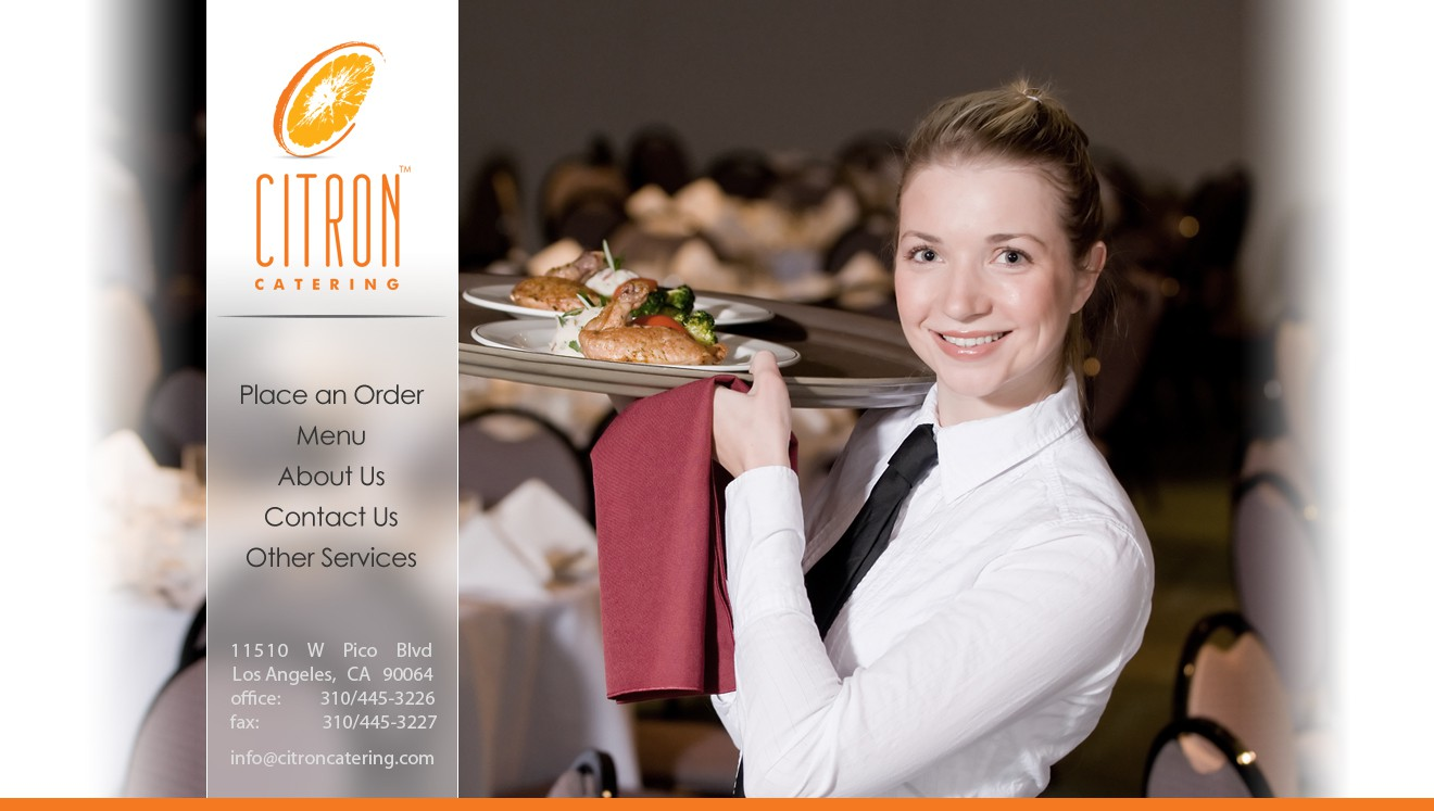 website design for Citron Catering